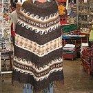 Ethnic peruvian Poncho, natural alpaca wool,outerwear