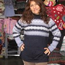 Sweater knitted of pure Alpaca wool, crew neck