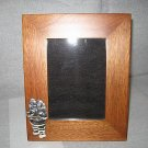Picture Frame,Mahogany and silver 950 decor