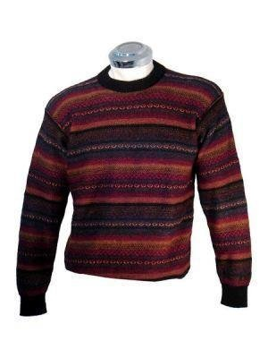 Sweater for men, knitted with pure Alpaca wool, round neck