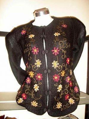 Waistet embroidered Blazer, Babyalpaca wool