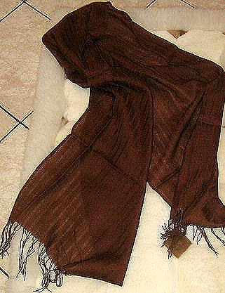 Scarf made of pure Babyalpaca wool & Silk,shawl
