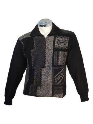 Sweater for men, v-neck, made of Alpaca wool