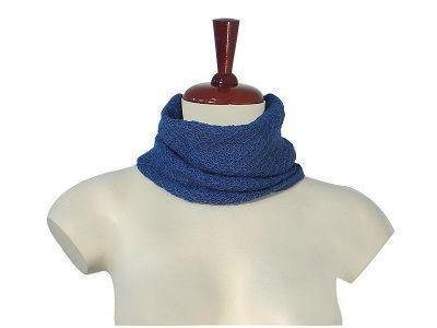 Blue neck scarf,neckerchief made of Babyalpaca wool