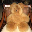 Brown fur teddy bear, made of alpaca fur, toy