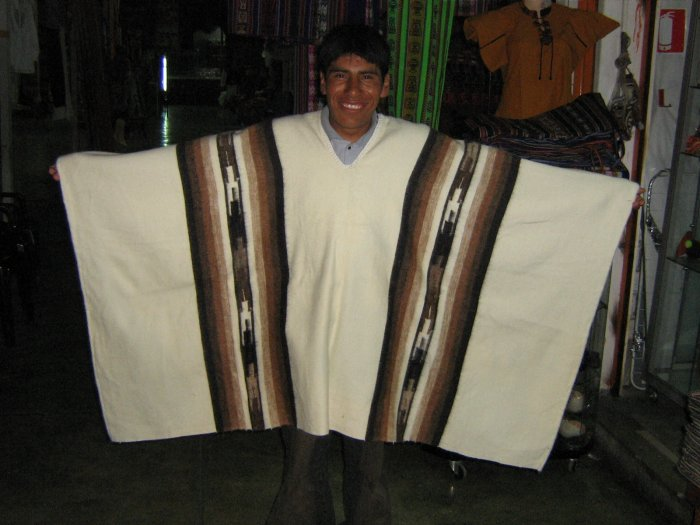 Peruvian poncho for men,outerwear made of alpaca wool