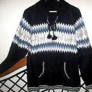 Sweater with hood in a peruvian Style, Alpacawool