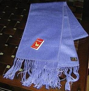 Light blue alpaca wool lighter scarf,shawl