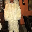 Hooded douple fur Overall,Alpaca pelt, outerwear