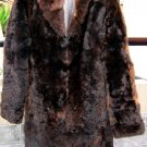 Long dark brown fur coat for men,babyalpaca pelt,outerwear