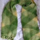 Green scarf ,shawl made of Rabbit wool