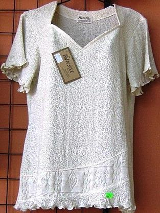 White shirt,Top made of ecological pima cotton