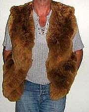 Brown fur Vest made of Babyalpaca pelt,outerwear