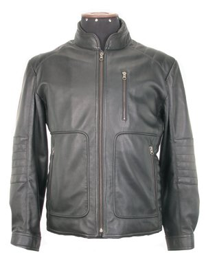 Genuine lamb nappa leather Biker Jacket,outerwear,
