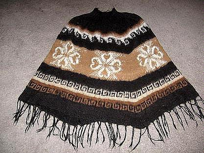 Turtleneck Poncho,outerwear made of Alpacawool