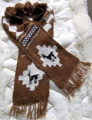Peruvian scarf,shawl made of pure Alpacawool