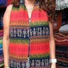 Rainbow colored peruvian scarf,shawl made of alpacawool