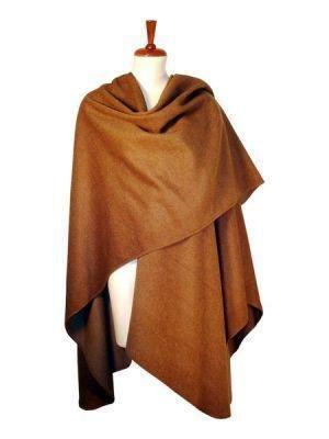 brown cape, shawl made of Surialpaca Wool, wraps
