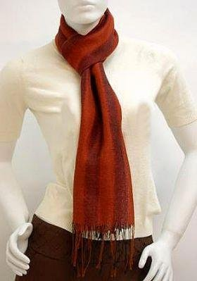 Red Scarf, shawl made of Babyalpaca wool and Silk