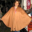 Brown poncho made of Alpacafabrik, outerwear