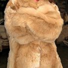 Brown fur jacket, coat made of Babyalpaca,outerwear