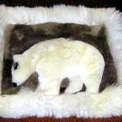 Alpaca fur Rug for decoration,carpet of 15.75 x 13.75 Inch