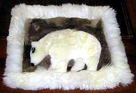 Alpaca fur Rug for decoration,carpet of 15.75 x 13.75 Inch