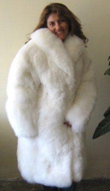 White Babyalpaca fur long coat,outerwear