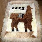 Motive Alpaca fur rug from Peru,carpet 35 x 23 Inches