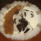 Table runner made of Alpaca fur,40 cm (15.6)diameter