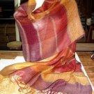 Weaved shawl,mix of Babyalpaca wool and Silk wrap