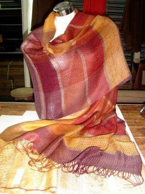 Weaved shawl,mix of Babyalpaca wool and Silk wrap