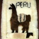 Motive Alpaca fur rug from Peru,59 x 43 Inches,throws