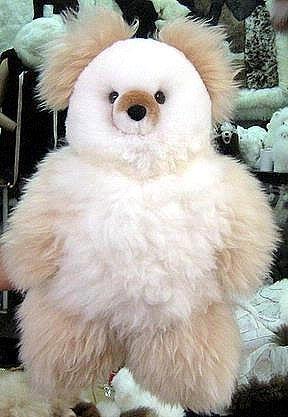 Fur Teddy Bear made of pure Babyalpaca fur, soft toy 25 inch
