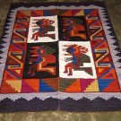 Peruvian colorful typical Rug, 4`92 x 3`61 ft, Baile de las Tijeras