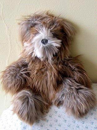 Teddy bear made of Suri Alpaca fur, soft toy, 15 inch.