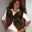 Brown fur vest made of Babyalpaca fur,outerwear