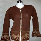 Embroidered Blazer,jacket knitted of alpaca wool