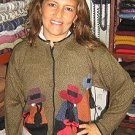 Ethnic peruvian Cardigan, made of Babyalpaca wool