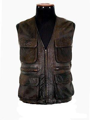Genuine lamb nappa leather sleeveless Vest,outerwear