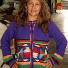 Colorful cardigan,jacket made of pure Alpacawool