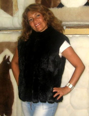 chinchilla rabbit pelt, fur jacket coat,cincilla vest