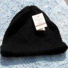 Black beanie hat,skull made of alpacawool