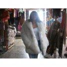 White fur Jacket,made of Babyalpaca pelt, outerwear