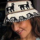 Hat made of Alpaca fabric from Peru
