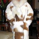Babyalpaca fur Long coat,pelt outerwear coat