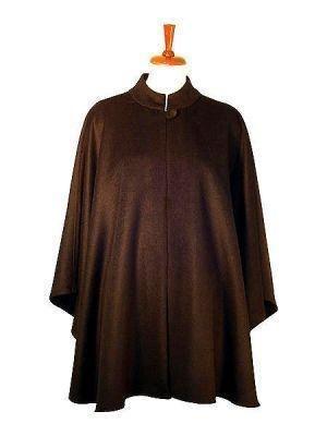 Black poncho, cape made of babyalpaca wool, coat
