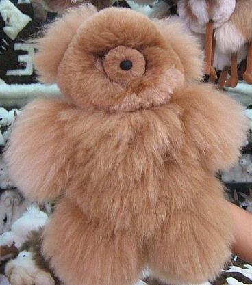 Teddy Bear, pure Babyalpaca pelt, fur soft toy figure 12.5 inch.