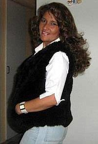 Brown fur vest made of babyalpaca fur,outerwear