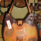 Handmade pure leather handbag from Peru